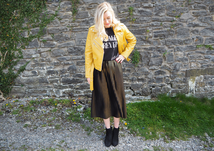 How to add colour to your wardrobe this autumn outfit look
