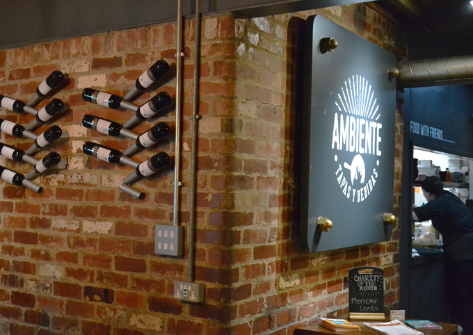Ambiente Tapas Leeds Review exposed brick