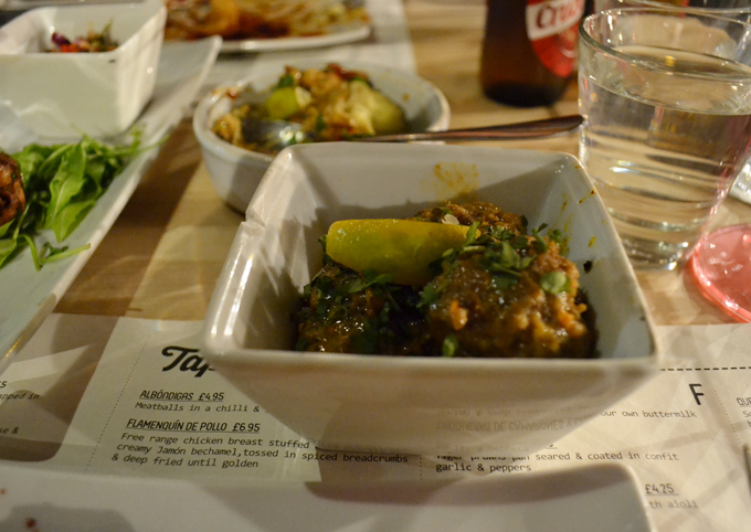 Ambiente Tapas Leeds Review meatballs in chilli and lemongrass