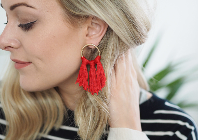 DIY Tassel Earrings - how to make tassel earrings