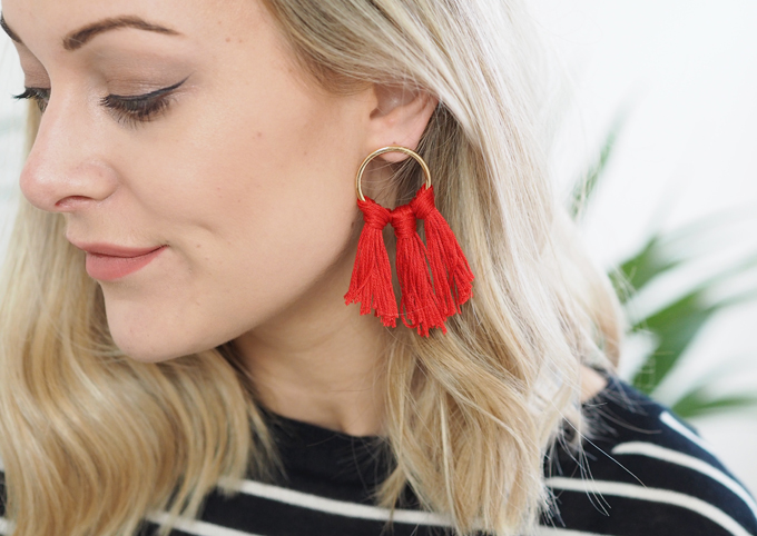 Diy Tassel Hoop Earrings Madeupfestive Made Up Style