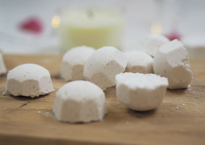 How To DIY Mini Bath Bombs for Mother's Day close up