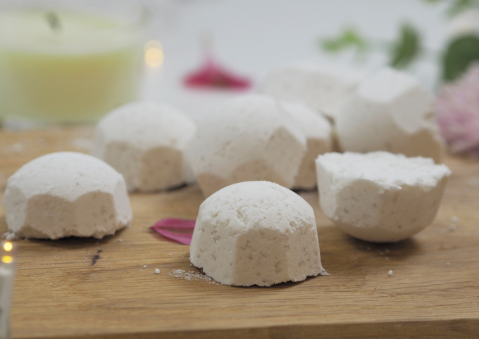 How To DIY Mini Bath Bombs for Mother's Day side view