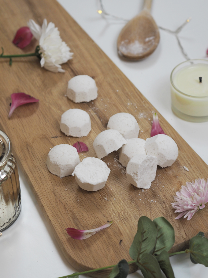 How To DIY Mini Bath Bombs for Mother's Day overhead