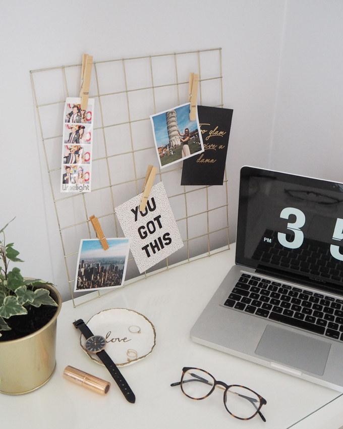 Diy Mini Gold Wire Memo Notice Board How To