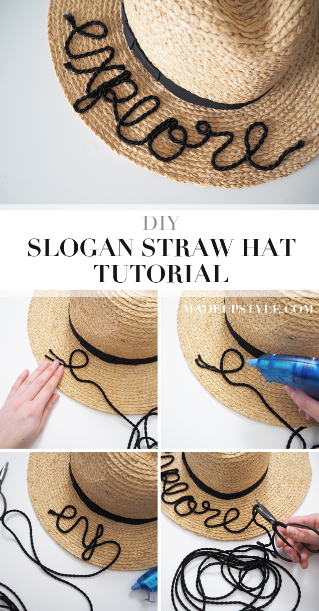 DIY embroidered beach hat how to tutorial pin for later