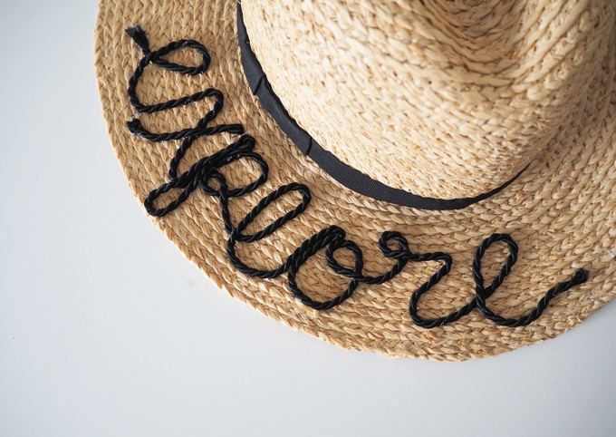 DIY embroidered beach hat how to tutorial