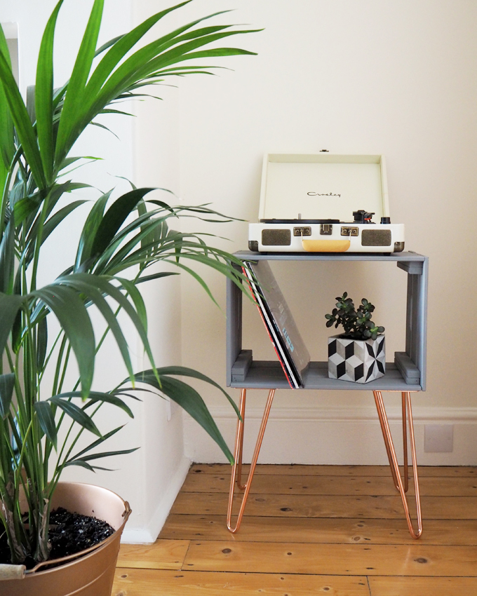 DIY Crate Side Table With The Hairpin Leg Co.