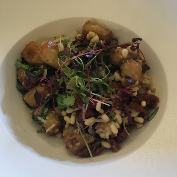 A couples weekend away at Wynyard Hall, Spa & Garden County Durham - lunch wellington restaurant gnocchi