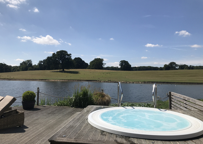A couples weekend away at Wynyard Hall, Spa & Garden County Durham - view over jacuzzi