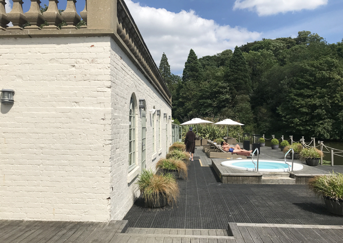 A couples weekend away at Wynyard Hall, Spa & Garden County Durham - view of spa terrace