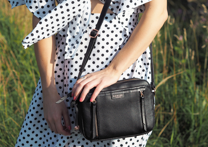 Made Up Style Radley Penhurst Leather Cross Body in Black Close up