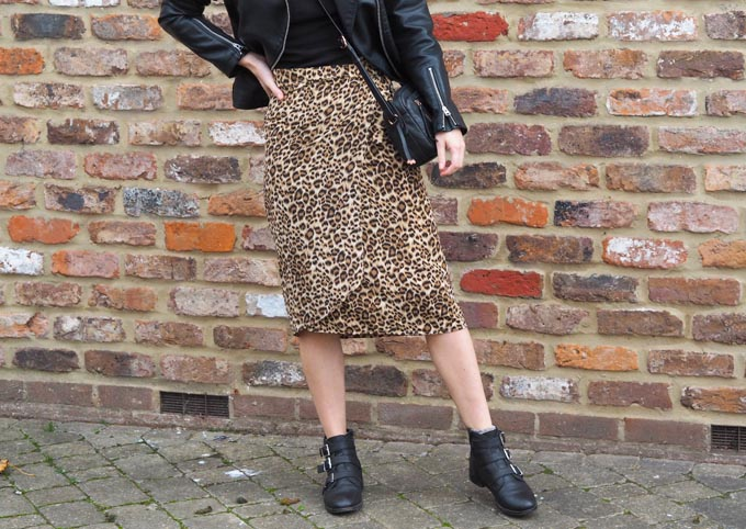 DIY leopard print skirt tutorial