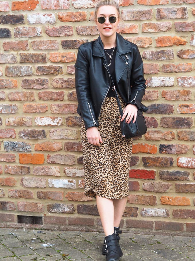 DIY leopard print skirt tutorial - how to style