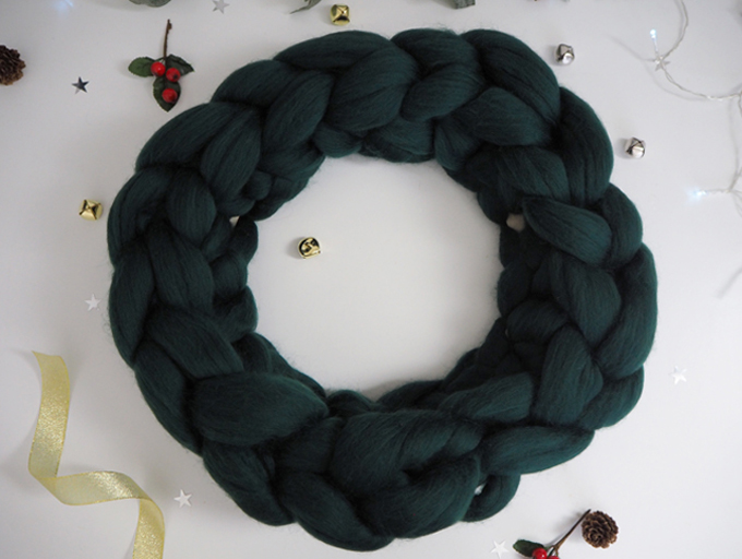 Crocheted Wreath Kit with Wool Couture