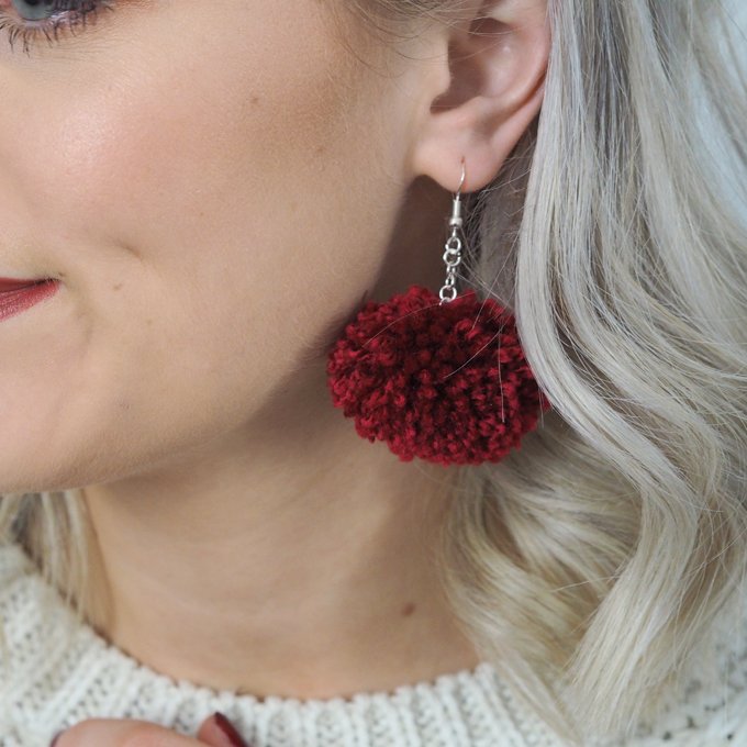 How to make your own pom pom earrings