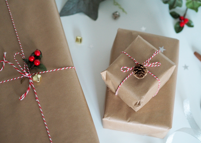 Ways to be more Sustainable this Christmas - Brown wrapping paper