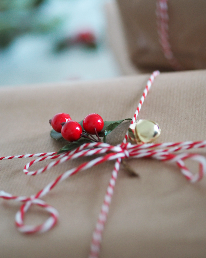 Ways to be more Sustainable this Christmas - brown paper parcel with string