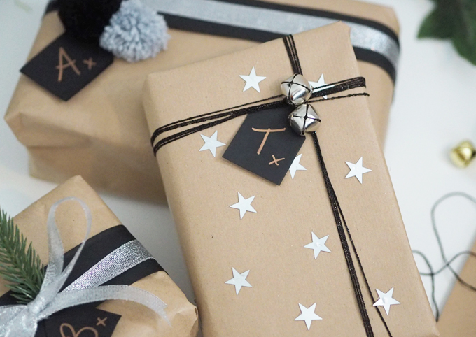 Brown Paper Gift Wrap Ideas | MadeUpStyle