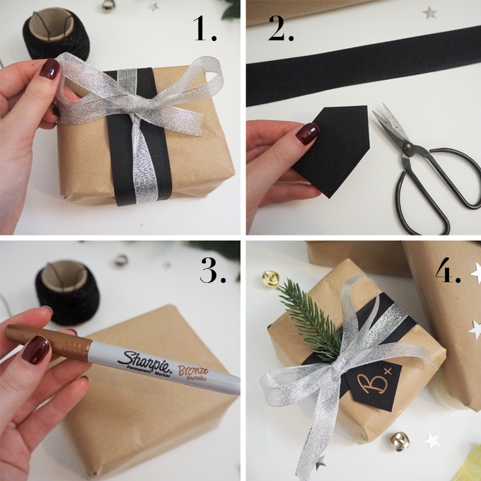 Step by step | Brown Paper Gift Wrap Ideas | MadeUpStyle
