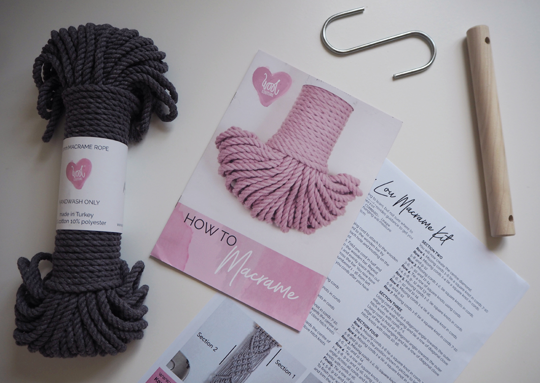 Lottie Lou Macrame Kit from Wool Couture
