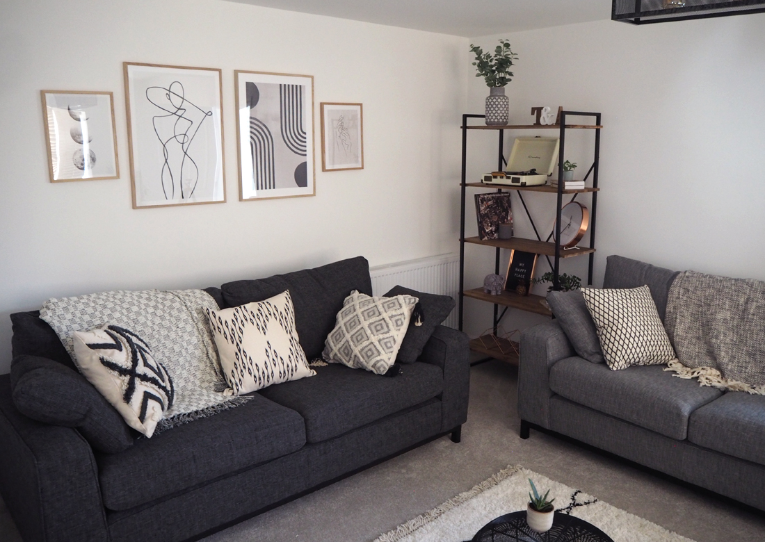 Living Room Makeover part 2 - corner shot